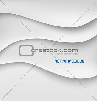 Abstract white paper layers background shadow