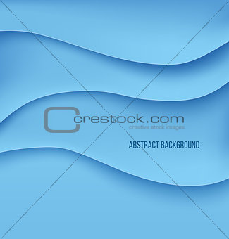 Abstract blue paper layers background shadow