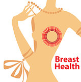 vector illustration of breast health