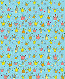 Seamless vector pattern of the crown princess