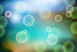 Festive bokeh lights abstract background