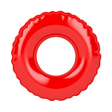 Red swim ring