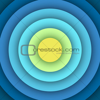 Abstract background with round layers.