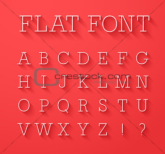 Flat font with shadow effect.