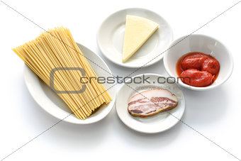 amatriciana ingredients, italian tomato sauce pasta