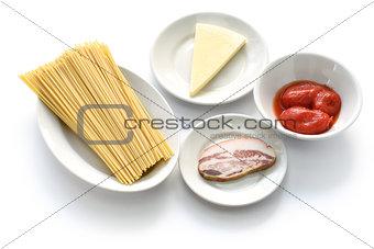 amatriciana ingredients, italian tomato sauce pasta