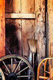 Old barn interior background