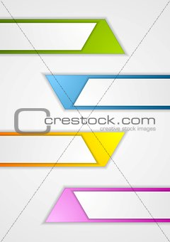 Abstract geometric web sticker banners