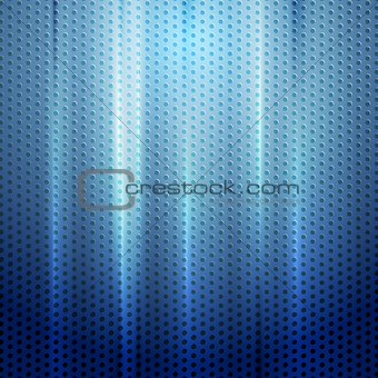 Bright blue abstract perforated texture