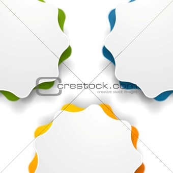 Abstract wavy shape vector background