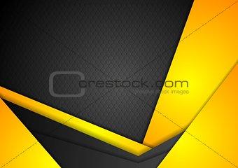 Abstract dark yellow corporate background