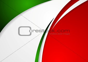 Corporate wavy abstract background. Italian colors