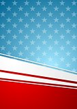 Corporate bright abstract background. USA colors