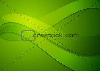Bright green wavy background
