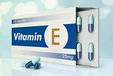 vitamin capsules, E