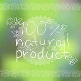 Natural products poster, vector illustration