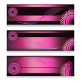 Magenta headers set in three choice