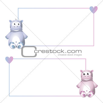 Frame with hippo