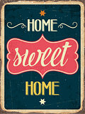 "Retro metal sign "" Home sweet home"""