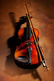 Vintage violin with shadow