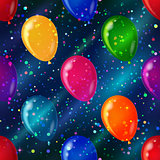Balloon seamless background in space