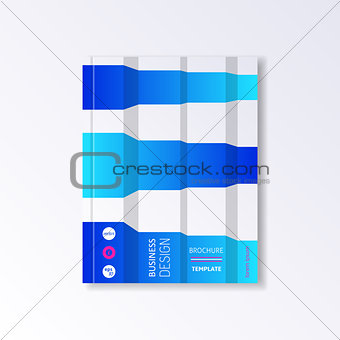 Brochure or book design template