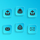 Mail envelope icons