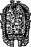 Woodcut Medieval City