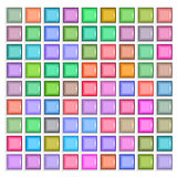 3d square mosaic. Vintage colorful texture.