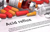 Acid Reflux Diagnosis. Medical Concept.