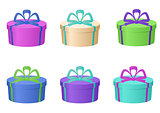Gift boxes, round