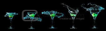 Martini glass collection
