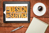 web design service on tablet