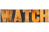 watch word typography