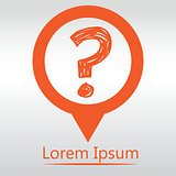 question mark icon ask sign, icon map pin