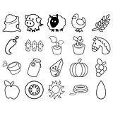 Agricultural Simple Icon Set
