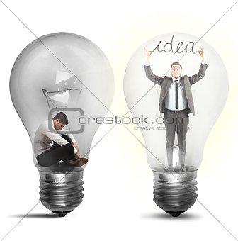Businessman suddenly an idea