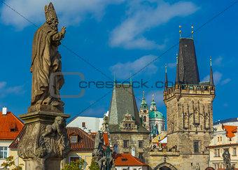 Adalbert of Prague on Charles Bridge, Czechia