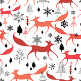 winter pattern of foxes