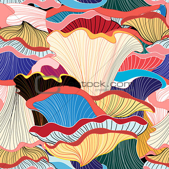 abstract pattern of different fungi