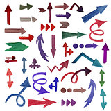 Vector Watercolor Arrows