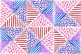 Vector Abstract Watercolor Seamless Pattern