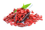 dry red goji berries for a healthy food