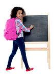 Back to school - little schoolgirl