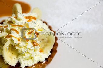 A fresh banana cream pie