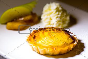 Apple pie and vanilla ice-cream