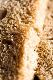 Closeup of a fresh wheat bread slice