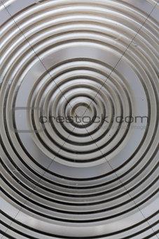 Circular classy aluminium surface