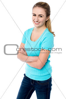 Attractive young female model