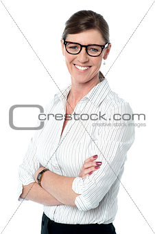 Casual portrait of smiling business lady